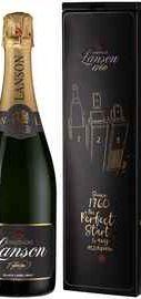 Шампанское белое брют «Lanson Black Label Brut Music Box» в подарочной упаковке