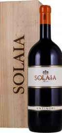 Вино красное сухое «Solaia Toscana» 2005 г. в деревянной подарочной упаковке