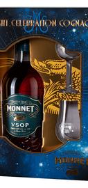 Коньяк французский «Monnet VSOP» в подарочной упаковке с двумя стаканами