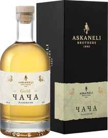 Водка виноградная «Chacha Gold Askaneli Brothers» в подарочной упаковке