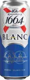 Пиво «Kronenbourg Blanc 1664» в жестяной банке
