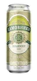 Пиво «Хамовники Пильзенское» в жестяной банке