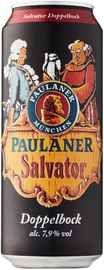 Пиво «Paulaner Salvator» в жестяной банке