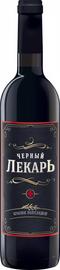Вино столовое красное полусладкое «Черный лекарь»