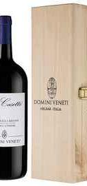 Вино красное полусухое «Domini Veneti Valpolicella Classico Superiore La Casetta» 2017 г., в деревянной подарочной упаковке
