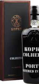 Портвейн «Kopke Colheita Porto Vintage» 2003 г. в деревянном ящике с отделкой из кожи