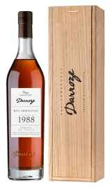 Арманьяк «Bas-Armagnac Darroze Unique Collection Domaine de Salie au Freche» 1988 г., в деревянной подарочной упаковке