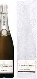 Шампанское белое брют «Louis Roederer Brut Blanc de Blancs Grafika» 2013 г. в подарочной упаковке