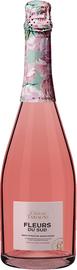 Вино игристое жемчужное розовое полусухое «Fleurs du Sud» вино с защищенным географическим указанием Кубань Таманский полуостров