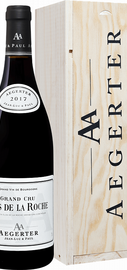 Вино красное сухое «Clos De La Roche Grand Cru» 2017 г. в деревянной подарочной упаковке