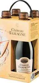 Вино игристое белое брют «Шато Тамань» набор из 4 бутылок 0.2 л.