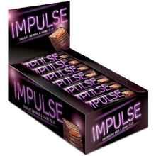 Шоколад в батончиках «Яшкино батончик Импульс с мягкой карамелью в молочной шоколадной глазури»