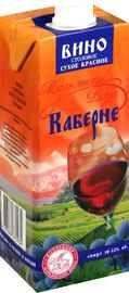 Вино столовое полусладкое красное «Каберне»